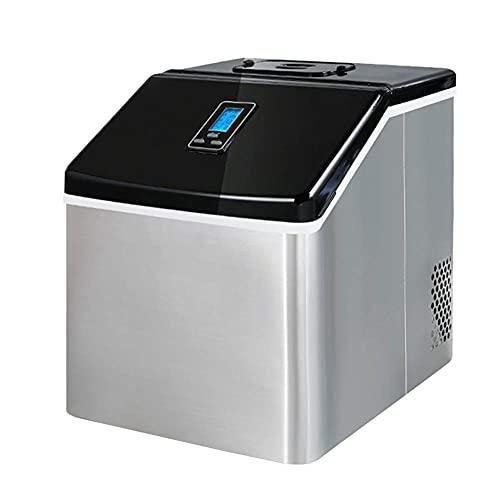 Máquina para hacer cubitos de hielo de hasta 25 kg/día con pantalla LCD, máquina de hielo portátil eléctrica compacta para fiestas, RV, vacaciones de camping