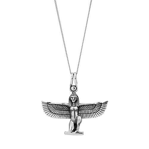 81stgeneration Frauen Herren .925 Sterling Silber Isis Ägyptische Göttin Anhänger Halskette, 46 cm