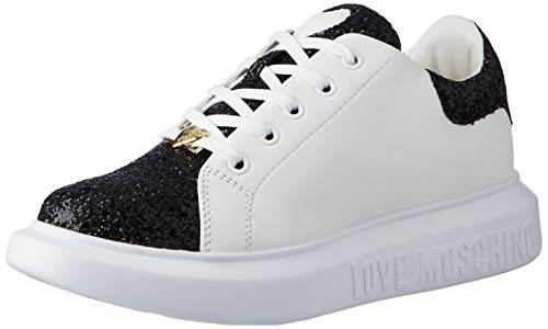 Love Moschino JA15654G0BJ6200B, Sneaker Donna, Nero, 40 EU