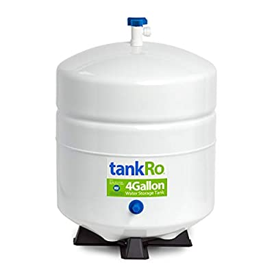RO Expansion Tank 4 Gallon – NSF Certified – Compact Reverse Osmosis Water Storage Pressure Tank by tankRO – with Free Tank Ball Valve from Express Water Inc