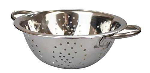 YBG Home Stand Strainer Colander 28 cm Stainless Steel Colander with 2 Handles