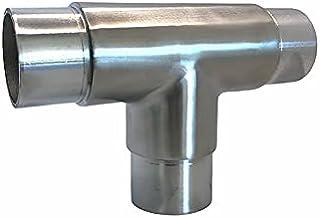 Roestvrij staal T-stuk 3 buizen afwerking AISI 316 geborsteld voor buiten buis Ø 42,4 mm
