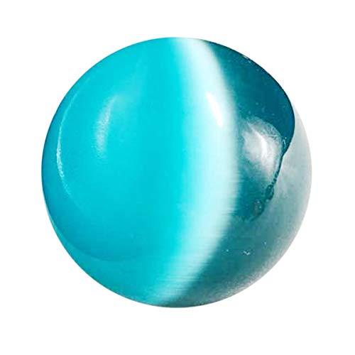 ZZLLFF 40mm blaues Katzenauge Opal Stein-Kugel-natürliche Quarz-Kristall-Kugel Fengshui Kugel Stein for Haus Schlafzimmer Bürodekoration Geschenk