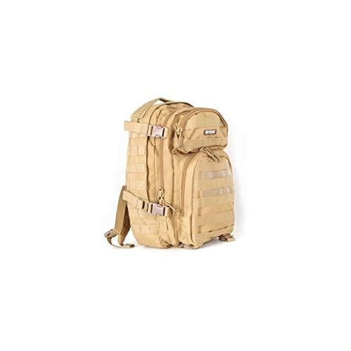 YDS BK-5070 Sac à Dos Style Militaire, 20L Grand Volume Sac à Dos Multifonction, pour École Trekking Randonnée Camping Voyage Pêche Escalade Alpinisme Alpinisme ou Utilisation (Kaki)