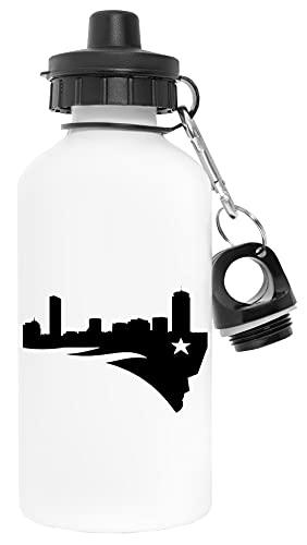 Bostón Patriota Blanco Botella de Agua Aluminio Deportes Viaje Exterior White Water Bottle Aluminium Sports Travel Outdoor