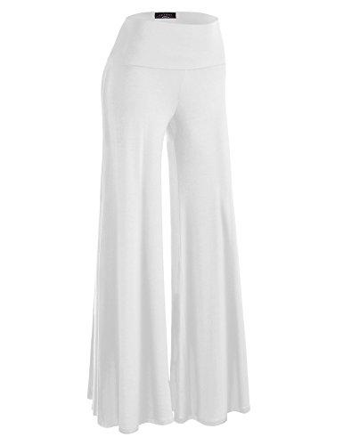 MBJ WB750 Womens Chic Palazzo Lounge Pants XL White