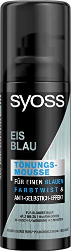 SYOSS Farbtönungsmousse Eis Blau Wash Out, 3er Pack(3 x 120 ml)