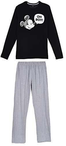 Mickey Mouse Herren Lang Pyjama Schlafanzug