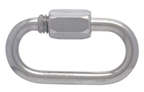 Maillon rapide® série normale inox Peguet - Diamètre 7 mm - Charge utile 4500 kg - Vendu par 1
