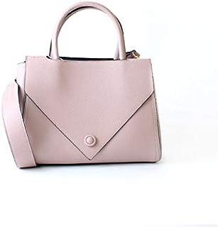 لينز حقيبة بمقبض علوي نسائية ، جلد صناعي - زهري