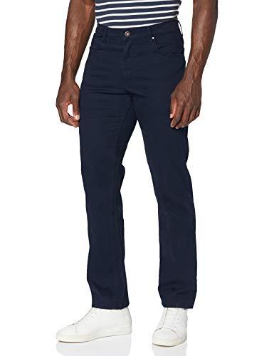 Wrangler Authentic Straight Jeans, Blu (Navy 114), 33W / 34L Uomo