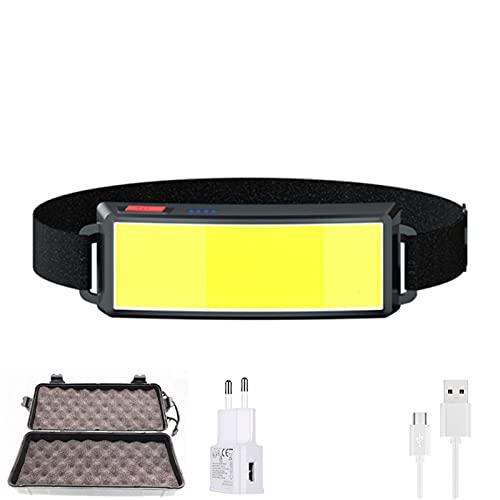 Faro LED portátil Mini COB LED con batería integrada de bolsillo USB recargable cabeza de senderismo (Emitting Color: G Pack)