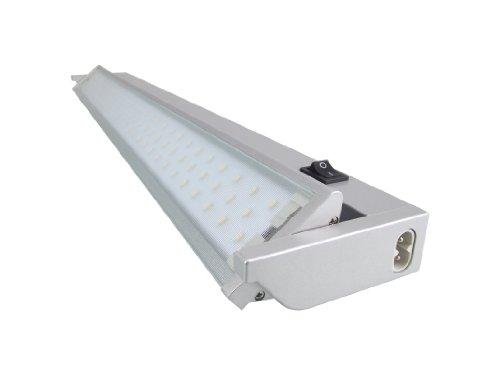 Hochwertige LED Küchenleuchte -Unterbauleuchte -MODELL 2016* Neutralweiss- LED SMD Schwenkbare 3,6 W - Aluminium Unterbauleuchte mit Euro-Stecker! Schutzscheibe aus Glas-:580mm LED Aufbauleuchte Aufbaulampe Lichtleiste Vitrinenleuchte Vitrinenlampe Werkstattleuchte Werkstattlampe Arbeitsleuchte Arbeitslampe Küchenleuchte Küchenlampe Unterbaustrahler Deckenlampe Deckenleuchte (Länge : 580mm) QUELLMALZ