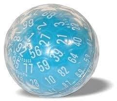 Zocchihedron - 100 sided dice (blue) - Dado de 100 caras (azul)