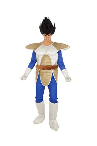 Disfraz de Dragon Ball Vegeta 6tlg Azul Beige - S