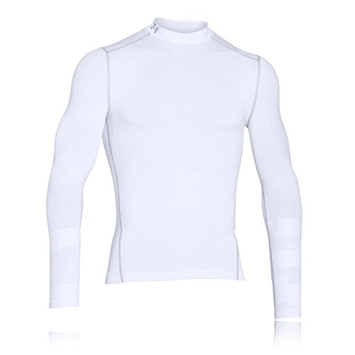 Under Armour Herren Coldgear Armour Mock ultrawarmes Langarmshirt, langärmliges Funktionsshirt für Männer, Weiß, Small