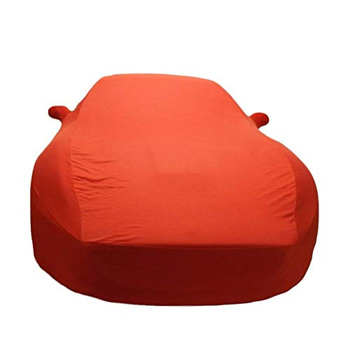 ZBM-ZBM Car Cover Waterproof and Breathable, Compatible with Ferrari California Special Car Cover Velvet Stretch Rain/Sunscreen/Dust/Sunshade (Color: Orange)