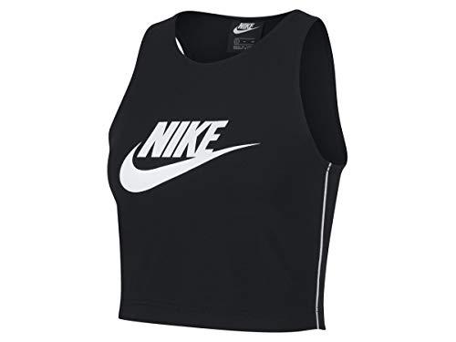 Nike Damen Sportswear Heritage Tank Top, Black/White/White, S