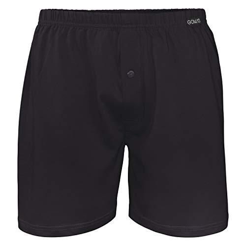 Gomati Herren Jersey Boxershorts (1 Stück) Stretch Unterhose aus Baumwolle - Schwarz XXL