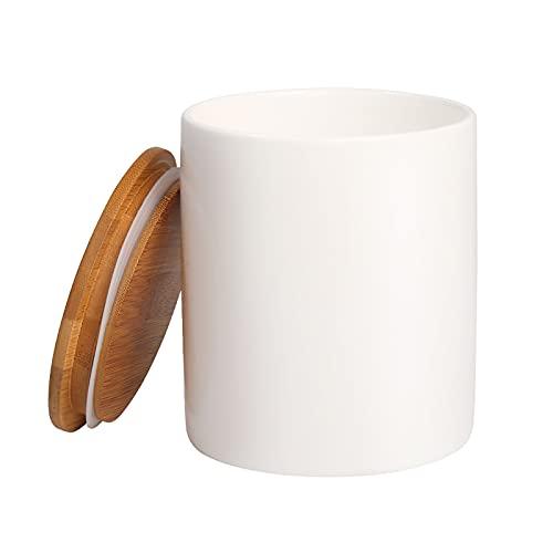 Food Storage Jar, 35.47 FL OZ (1050 ML), 77L Ceramic Food Storage Jar with Airtight Seal Bamboo Lid...