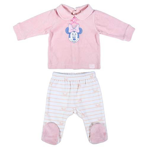 CERDÁ LIFE'S LITTLE MOMENTS 2200006137_T01M-C70 Polaina de Minnie - Licencia Oficial Disney, Rosa, 1 Mes Bebé-Niñas