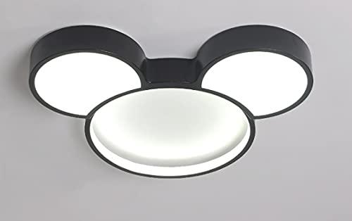 Lámpara De Techo Regulable Con Mando A Distancia Para Habitación Infantil,Plafón Led De Techo Niña,Lámpara De Dibujos Animados Creativos Minnie Luz Blanca Mickey 60Cm