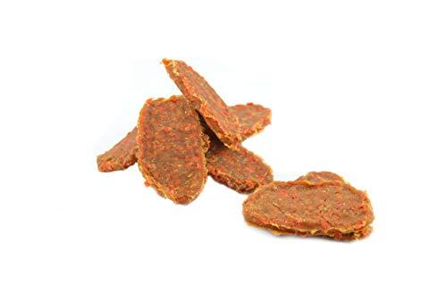 Maced hondensnack gevogelte filet met wortel 50G, de wortel voorziet in essentiële vitaminen A, B1, B2, B3, B6, C, E, H, K en mineralen hondendeleckerli pak van 10 (10 x 50 g)