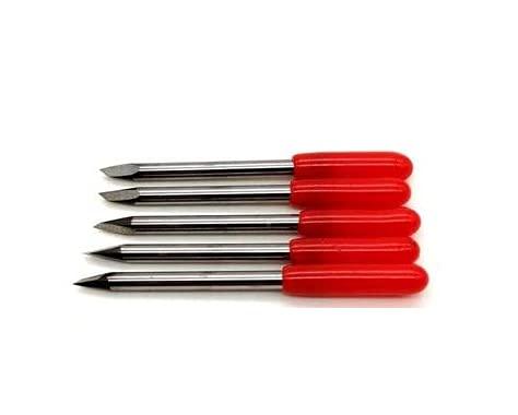 Cuchillas compatibles Mimaki 30° - 45° - 60° profesionales de carburo cementado (paquete de 5 unidades) (45°)