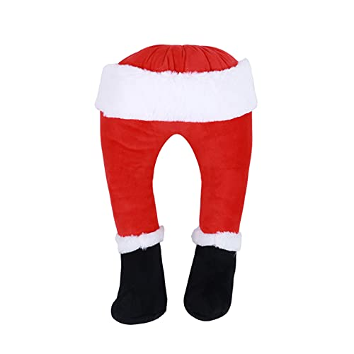 Angel&H Santa Claus Elfos Suaves Piernas de Felpa, Ladrn de Navidad Lindos Pies Rellenos Rojos, Adorno de Santa Piernas para El rbol de Navidad, Decoraciones de Fiesta