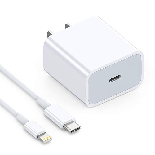 iPhone Fast Charger Apple MFI Certified - USB C to Lightning Cable 3.3FT with 18W USB C Power Adapter Wall Charger Support Power Delivery for iPhone 11 Pro Max XR XS X iPad Pro Air & Mini