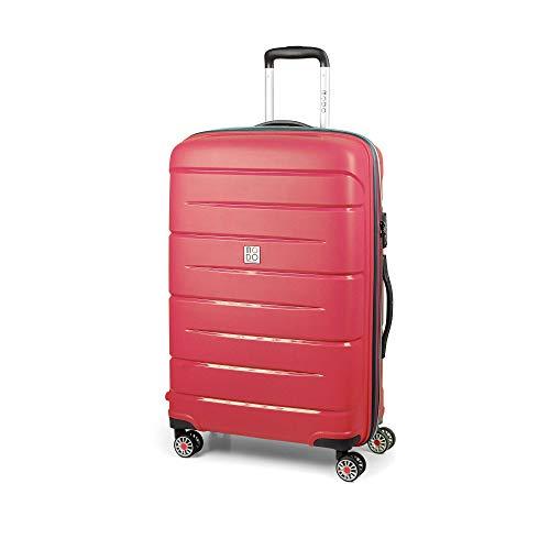 MODO by Roncato Starlight 2.0 trolley medio rigido ultraleggero e resistente con 4 ruote piroettanti e combinazione TSA integrata, colore corallo, 71x47x26, 3.4 kg, 80 l