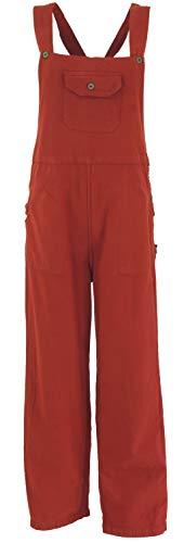 GURU SHOP Latzhose, Ethno Style, Hose, Damen, Rostrot, Baumwolle, Size:S (36), Lange Hosen Alternative Bekleidung