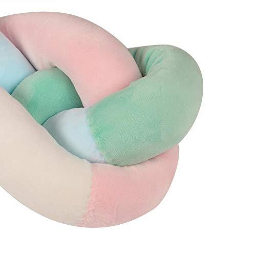 Sevenyou 【𝐏𝐚𝐬𝐪𝐮𝐚】 Protezione per presepe Morbida, Confortevole e Non tossica(Pink Blue Green White, 1 Meter)