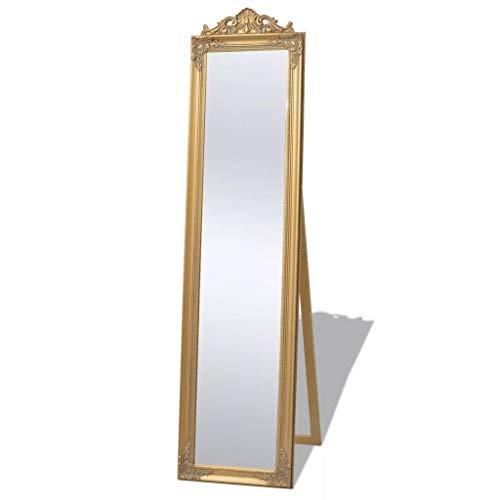 Festnight Standspiegel im Barock-Stil Flurspiegel Ankleidespiegel Ganzk?rperspiegel Spiegel Barockspiegel 160 x 40 cm