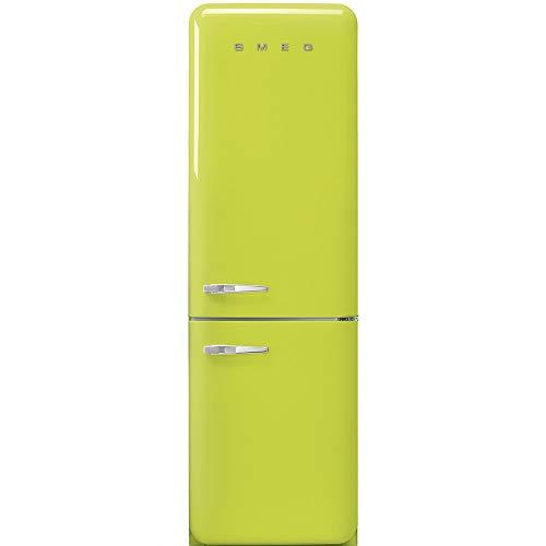 Smeg FAB32RLI3 - Frigorifero Combinato Anni  50, Verde Lime, 331 Lt, 60 cm, Cerniere a Destra, A+++