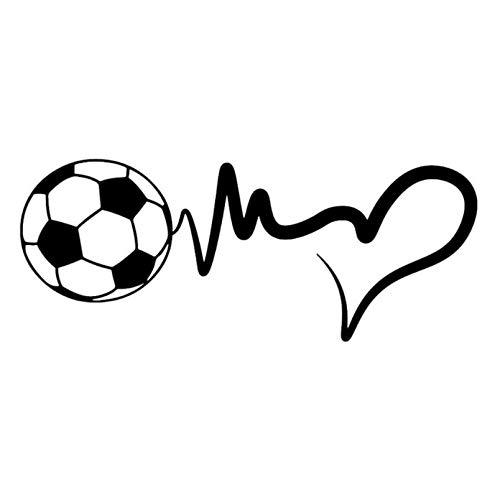 Zelfklevend PVC-materiaal voor voetbal, sportief, met afneembare trekkers, voor bumpers van glas, auto, 17 x 7 cm (5 stuks)