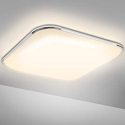 Hengda Led Deckenleuchte, 24W Bad Deckenlampe 1920LM, IP44 Wasserdicht Warmweiß Lampen für Badezimmer, Schlafzimmer, Küche, Wohnzimmer, Flur, Balkon, Modern Badezimmerleuchte