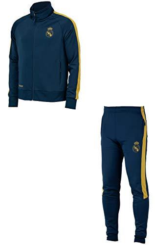 Real Madrid - Tuta da allenamento da allenamento con giacca + pantaloni collezione ufficiale – Uomo L