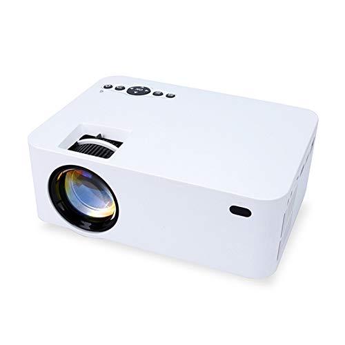 Gycdwjh Proyector,Proyector Portátil Soporte Full HD 1080p Mini Proyector Cine en Casa para Viajes al Aire Libre Juegos