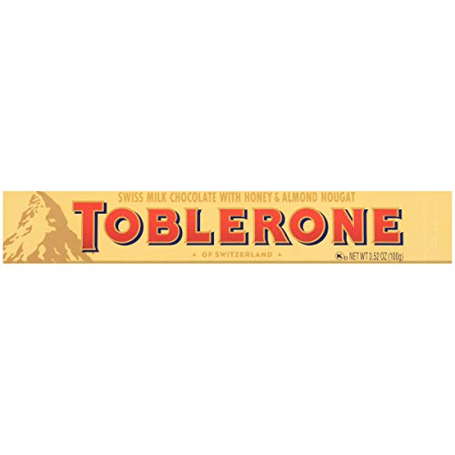 TOBLERONE Swiss Milk Chocolate with Honey & Almond Nougat, 3.52 oz Bar
