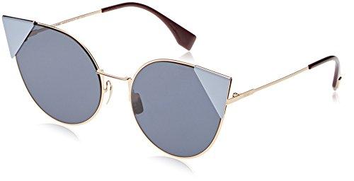 FENDI FF 0190/S A9 000 Gafas de Sol, Dorado (Rose Gold/Blue Avio Ar), 57 para Mujer