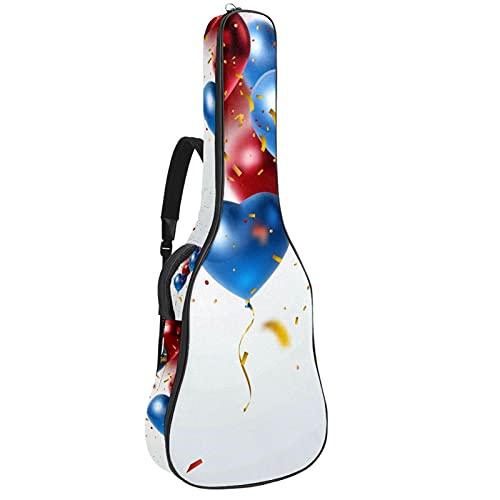 Bolsa Guitarra Electrica Globos Azul Rojo Funda para Guitarra Oxford impermeable Mochila...
