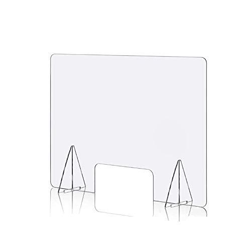 LYQCZ Spuckschutz Thekenaufsatz, Plexiglas, Spuckschutz, Schreibtisch-Trennwand, Schreibtisch-Abtrennung, Schutzplatte, Acryl Schutzschild(1pcs60x70cm)