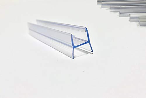 Juntas de plastico para Cortina de Cristal | Se adapta a todo tipo de Cerramiento de Terraza | En forma de (H) | Largo de 2500 mm | Para vidrio de 10 mm (5 unidades, largo de 2500 mm)