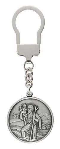 Unbekannt HL. Christophorus Schlüsselanhänger 3,5 cm, 999-feinversilbert, gesegnet und geweiht