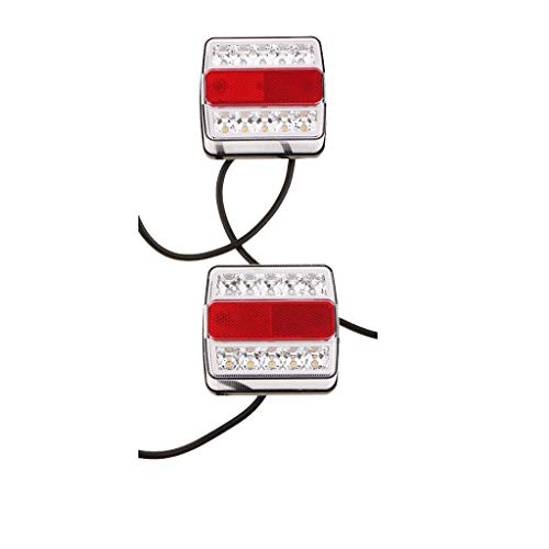 Motorfietsaccessoires, 1 paar 12 V, 10 LED's, voor trekhaak, achterlicht, kentekenplaat
