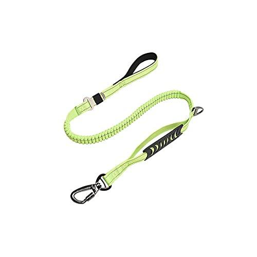 FEIHAIYANYqys Collar Adiestramiento Perros Correa de perro reflectante para perros medianos, grandes, amortiguador que absorbe la correa para perros de bungee, con mango de esponja de buceo, antidesli
