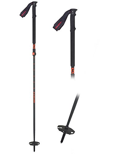 Scott Riot 18 Skistock, Black, 100-125