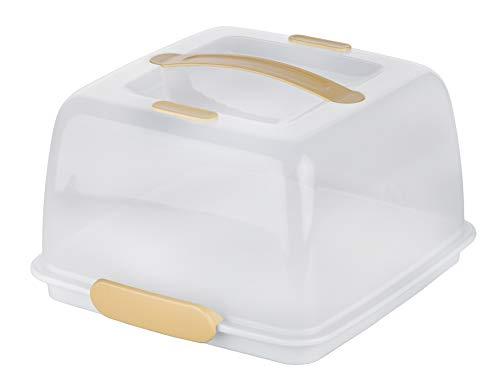 Tescoma Porta Torte Quadrato, Bianco, 28x28x16 cm