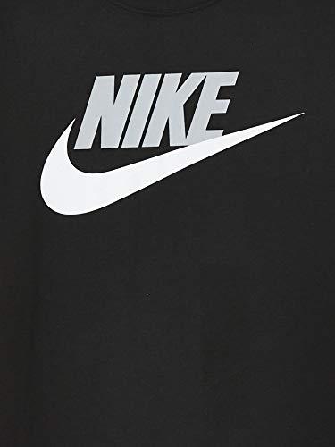 Nike Boys' B NSW TEE FUTURA ICON TD T-Shirt, Black/(lt Smoke Grey), S